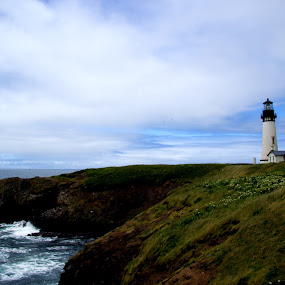 Yaquina Head Lighthouse by Stephen Berry - Travel Locations Landmarks ( yaquina head, lighthouse )