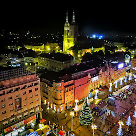 Zagreb by Dunja Kolar - City,  Street & Park  Night ( croatia, zagreb )