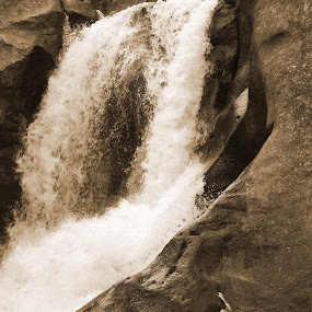 The Climb by AJ Schroetlin - People Fine Art ( climb, woman, waterfall, colorado, rock, aj schroetlin )