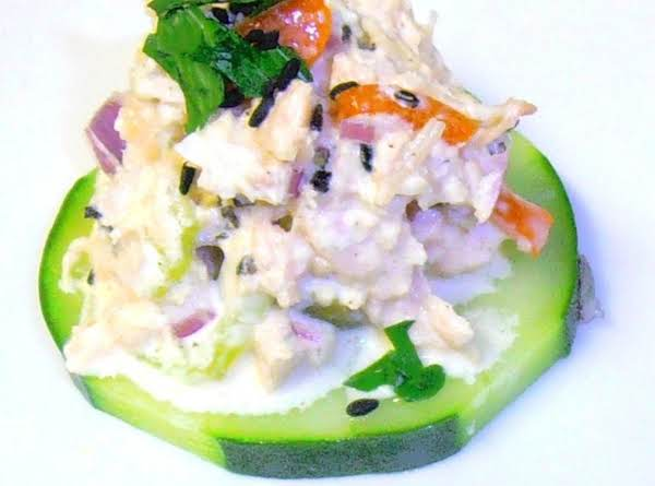 Low Carb Chicken Salad Cucumber Sammies Recipe