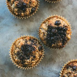 Flourless Banana, Cinnamon + Dark Chocolate Muffins