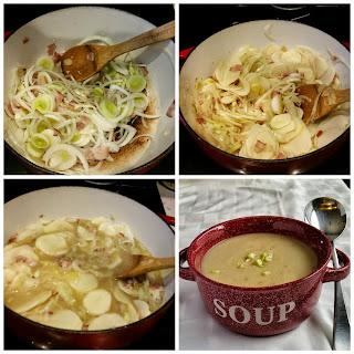 LEEK & POTATO SOUP (WITH BACON)