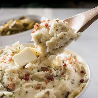 Homestyle Garlic Herb Mashed Potatoes.