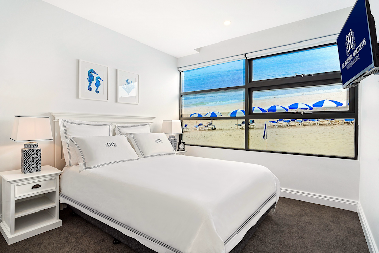 Luxury bedroom at Nott Street, Port Melbourne
