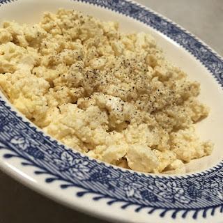 "Vegan 4 Ingredient ""Scrambled Eggs""."