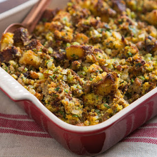 Southern Cornbread Dressing With Oysters and Sausage