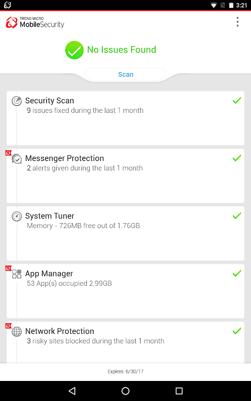 Mobile Security & Antivirus screenshots