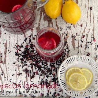 Hibiscus Lemonade (Alcoholic and Non).