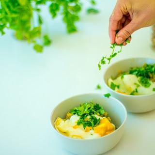 Green Miso Porridge with Eggs.