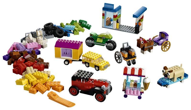 Contenido de Lego® 10715 Ladrillos sobre Ruedas