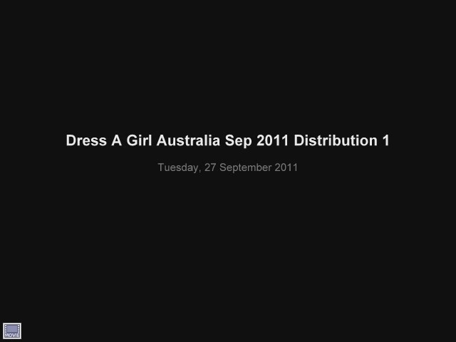 Video: Sep 2011 Dress distribution event done in Cagayan de Oro City Philippines in partnership with Zonta International, Cagayan de Oro Chapter