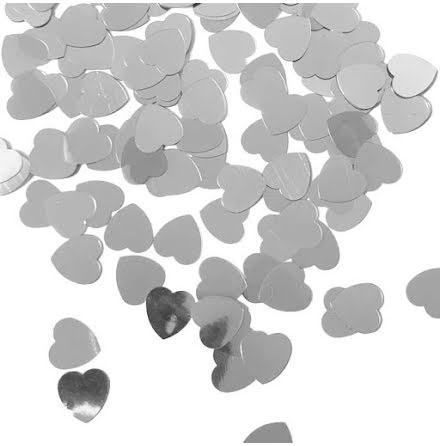 Konfetti, hjärtan silver 15 gr