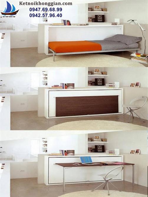 thiết kế giường ngủ tiết kiệm không gian