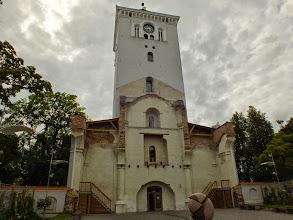 Photo: Jelgava. Tai, kas išliko po antrojo pasaulinio karo.  Varpinė buvo restauruota ir 2010m. atidaryta lankytojams.  Šiame pastate dabar yra miesto muziejus, viršuje apžvalgos aikštelė.