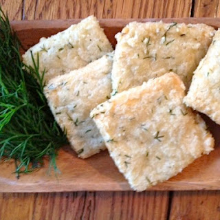 Almond, Parmesan and Dill Crackers (low FODMAP recipe).