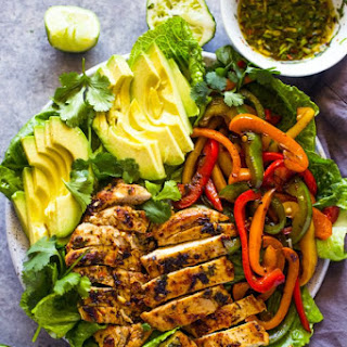 Grilled Fajita Chicken & Avocado Salad Recipe