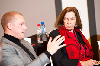 Photo: (left) Michiel BONTE from the Centre for Equal Opportunities and Opposition to Racism in Belgium, and Eliza SAVVIDOU, the Cypriot Commissioner for Administration and Human Rights (Ombudsman)