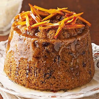 Steamed Figgy Pudding.