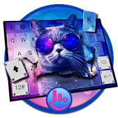 Hipster Cat Keyboard Theme