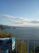 Photo: 愛野展望台。・・・寒い。 シマバラ半島一周しました。 「遠かったー」