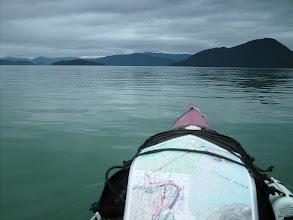 Photo: July 7 - Crossing Stikine Strait toward Kadin and Liesnoi Islands.
