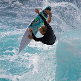 Upside Down by Manuel Balesteri - Sports & Fitness Surfing ( surfer, action, wave, sport, surf,  )