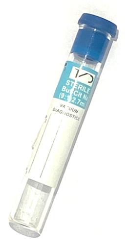 tubo de ensayo azul
