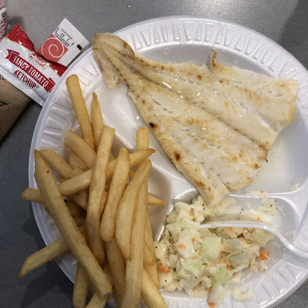 Broiled haddock lunch special