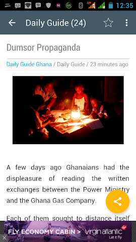 android Ghana News Lite App Screenshot 3