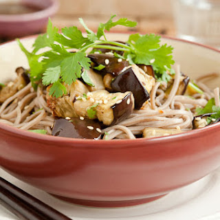 Soba Noodles Salad With Roasted Eggplant