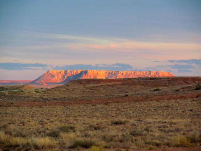 The Big Flat Tops at sunset on Wednesday