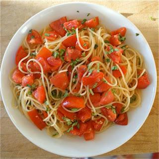 No Cook Tomato Pasta