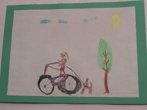 """Photo: praca Igi : """" Jeździmy rowerem bo ... to modne """""""