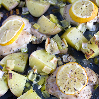 Baked Lemon Chicken Thighs and Potatoes