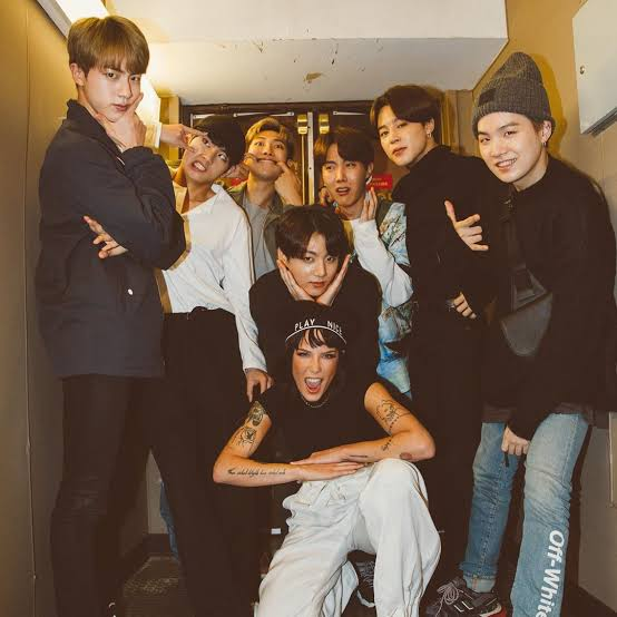 BTS and Halsey2