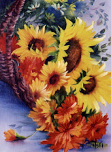 """Photo: KP20, Basket of Sunflowers (for 18 x 24"""" canvas) $6.99"""