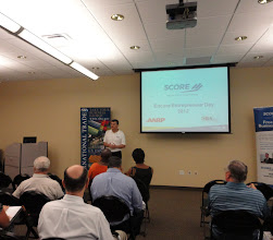 Photo: Nartional Encore Entrepreneur Mentor Day - George Gremse speaking at the SCORE/SBA/AARP Event