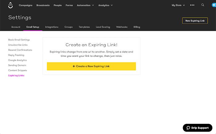 Expiring Links