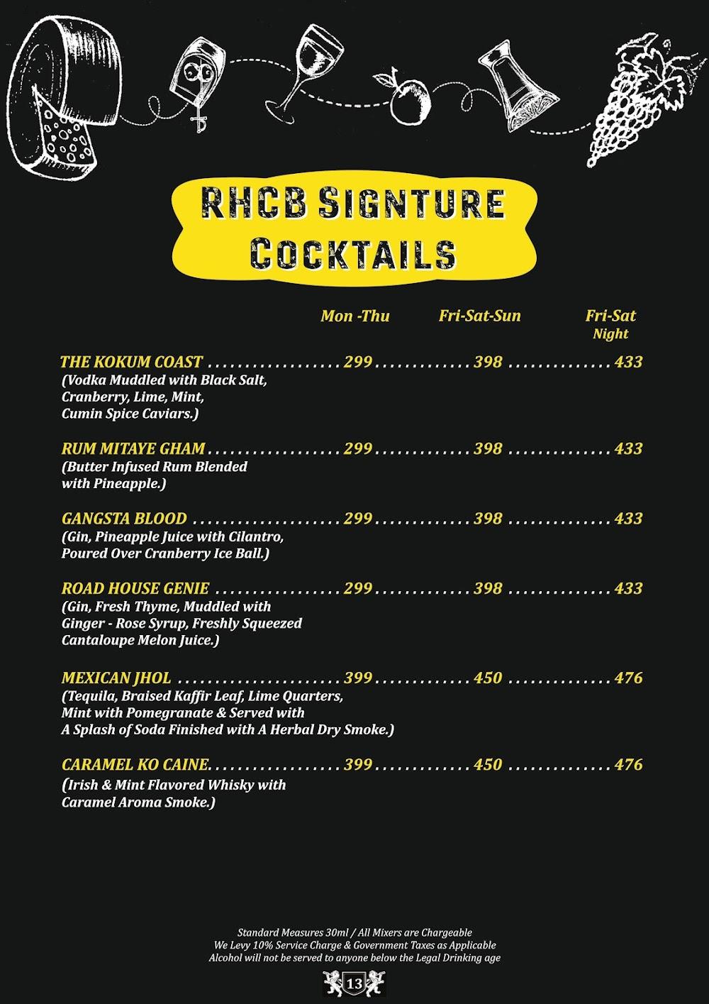 Road House Cafe Bar menu 12