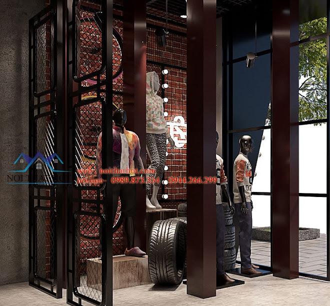 thiết kế shop thời trang nam h2t xuân thủy 3