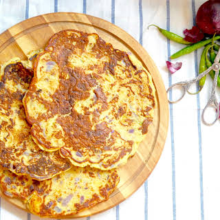 Aloo ka cheela , Indian Savoury Potato Pancakes.