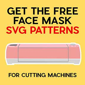 Get the free face mask SVG patterns