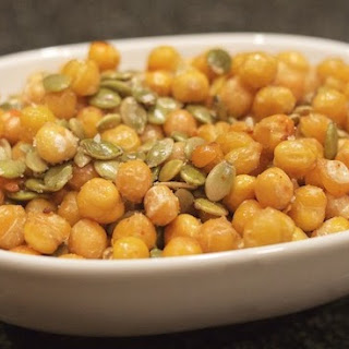 Roasted Chickpeas & Pumpkin Seeds
