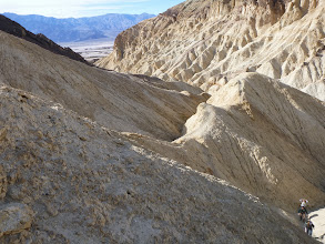 "Photo: Golden Canyon. Hunting for the ""big"" fault."