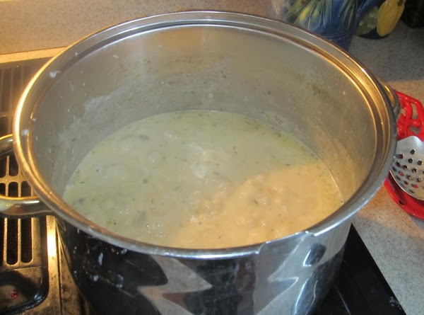 Begin to add in the cream mixture slowly while continue to stir.  Let...