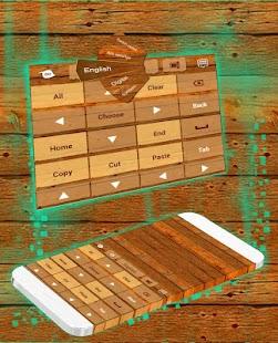 Téma dřevěné klávesnice - náhled