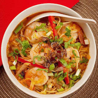 Spicy Shrimp and Ramen Soup.