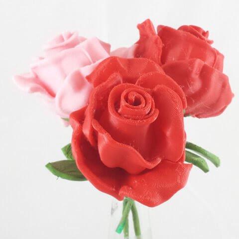 3D модель розы