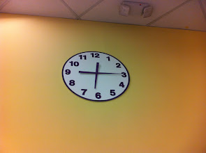 Photo: 1/29 - The clock in a Giant grocery store. It looks like a fourth grader cut it out of paper. And what's with those LONG hands?