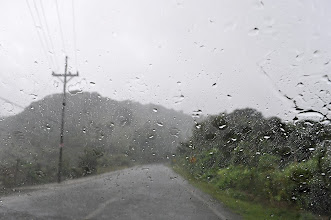Photo: And approaching our first place in Cerro de la Muerte, the rain picked up.